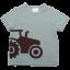 Tricou verde cu aplicație tractor maro
