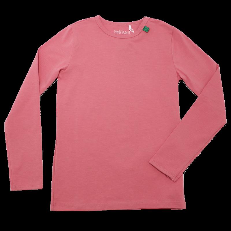 Bluză roz din bumbac organic