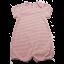 Romper roz deschis cu dungi albe