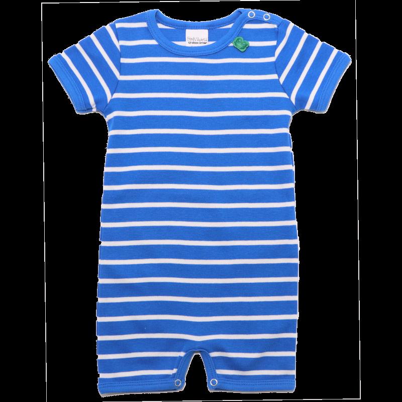 Romper albastru cu dungi albe