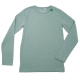 Bluză verde cu mânecă lungă din bumbac organic