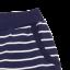 Pantaloni scurți bleumarin cu dungi albe