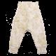 Pantaloni albi cu imprimeu vegetal Spicy Vintage