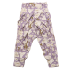 Pantaloni lila cu imprimeu crini