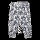 Pantaloni albi cu imprimeu pădure
