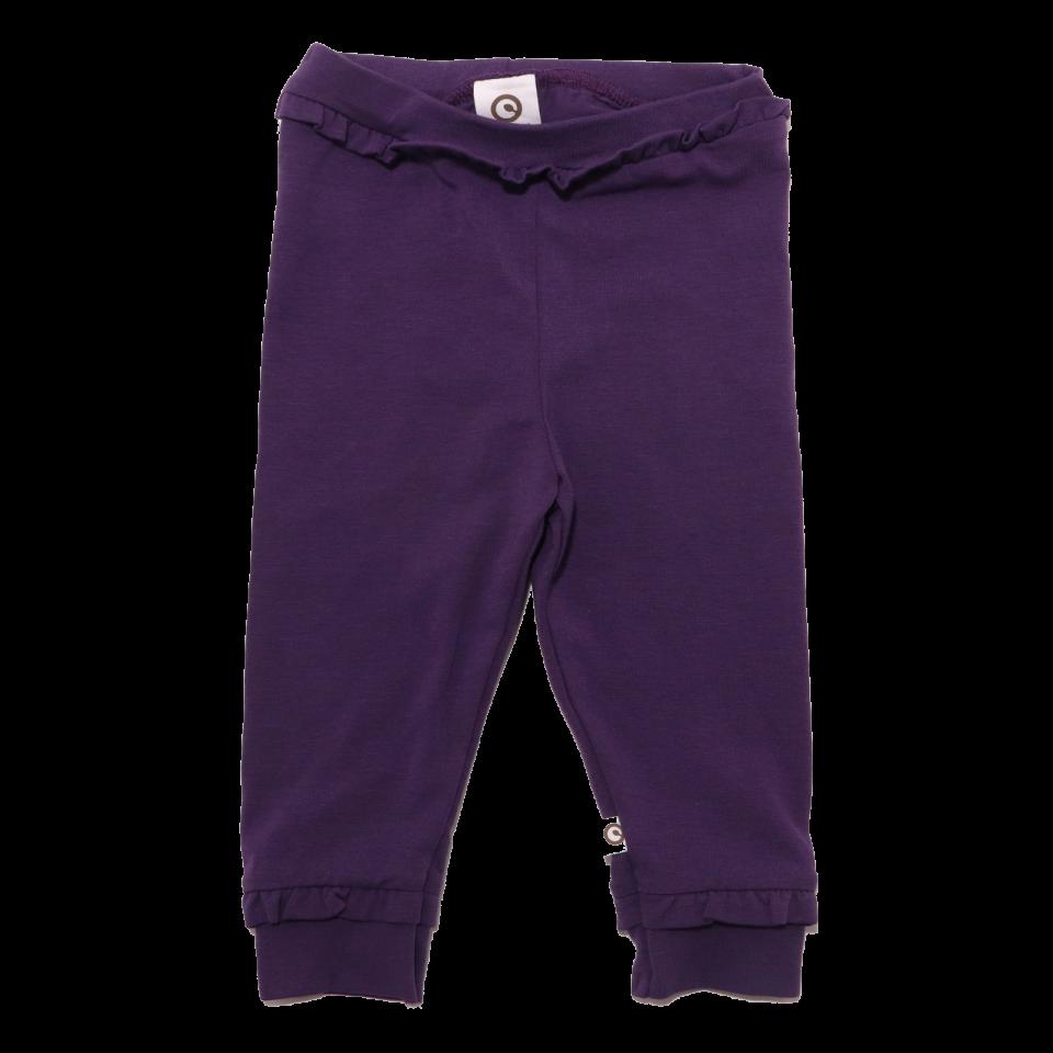 Pantaloni mov cu volănașe mici