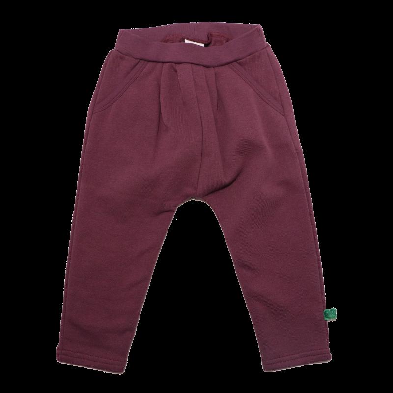 Pantaloni groși mov închis cu buzunare