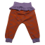 Pantaloni maro cu detalii lila