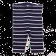 Colanți lungi bleumarin cu dungi albe