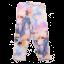 Colanți multicolori cu imprimeu unicorn