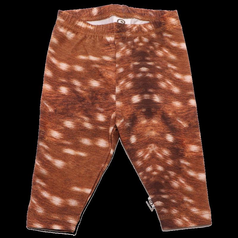 Colanți maro cu imprimeu blăniță de căprioară