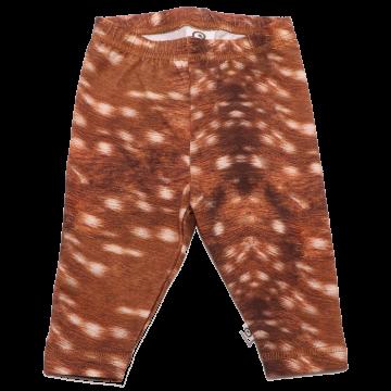 Colanți maro cu imprimeu blăniță de căprioară Musli