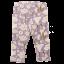 Colanți lila cu imprimeu crini