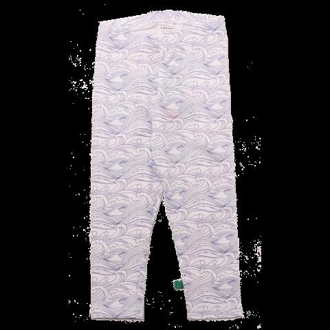 Colanți lungi albi cu imprimeu valuri Freds World