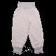 Pantaloni gri cu dungi albe