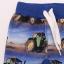 Pantalon albaștri cu imprimeu tractoare