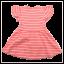 Rochie corai cu dungi albe