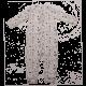 Salopetă fără botoși, albă cu imprimeu plante