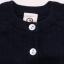 Cardigan bleumarin tricotat din bumbac organic