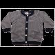 Cardigan bleumarin cu dungi albe tricotat din bumbac organic