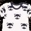 Romper Raccoon din bumbac organic