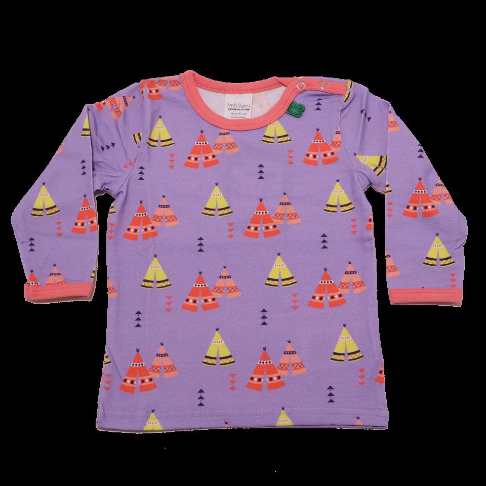 Bluziță lavender cu mânecă lungă Tepee