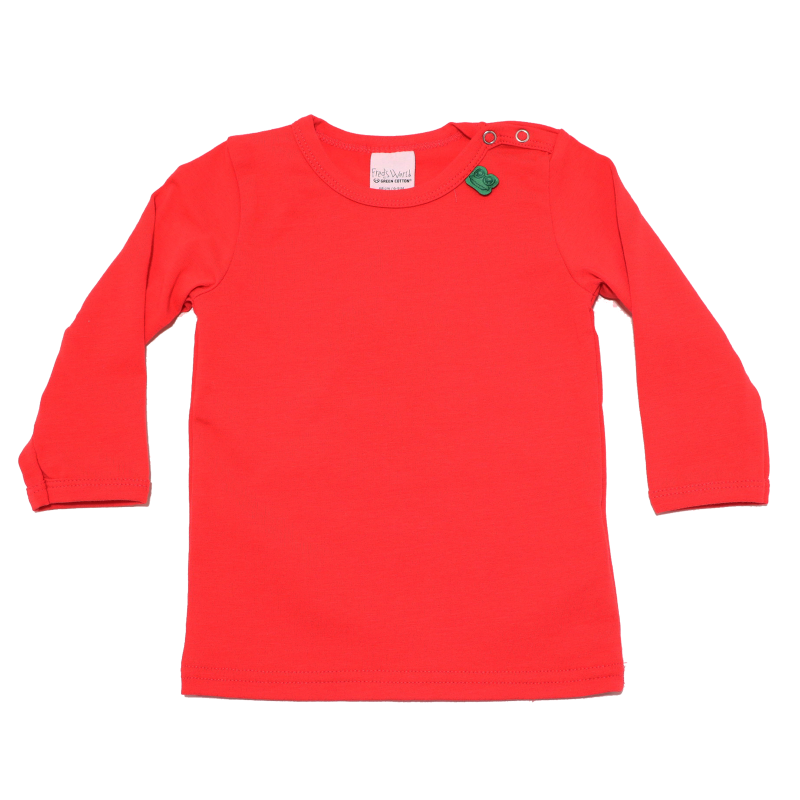 Bluziță roșie cu mânecă lungă