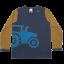 Bluză cu mânecă lungă și tractor aplicat