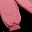 Pantaloni roz cu talie pliabilă