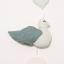 Mobil cu pasăre verde și inimioare