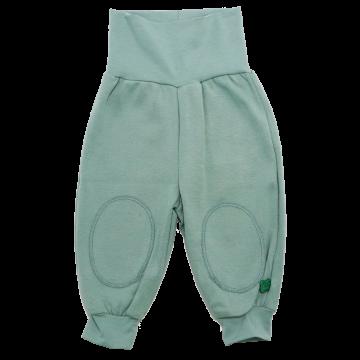 Pantaloni Alfa cu bandă elastică, lată, îndoită în talie