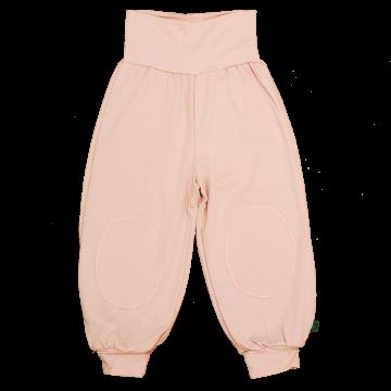 Pantaloni harem roz pal din bumbac organic