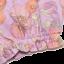 Bloomers lila cu imprimeu floral