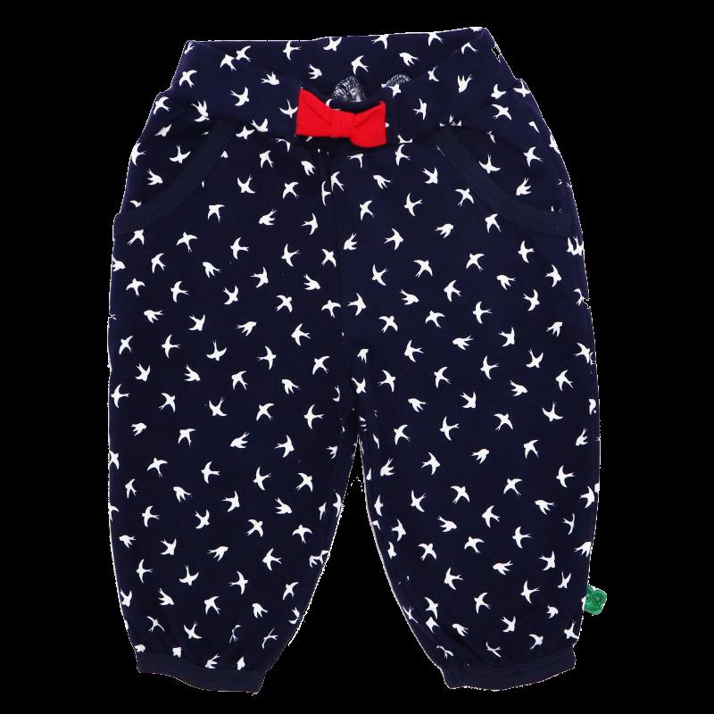 Pantaloni cu fundiță și buzunare