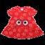 Rochie roșie cu steluțe și ochi