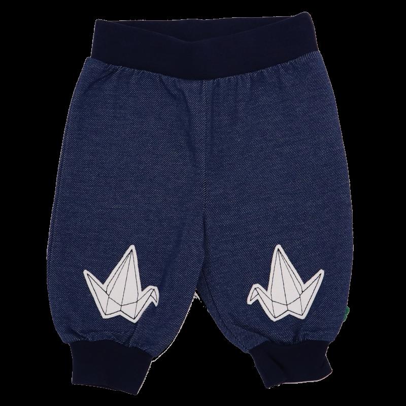 Pantaloni denim cu imprimeu origami
