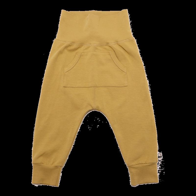 Pantaloni olive cu buzunar în față