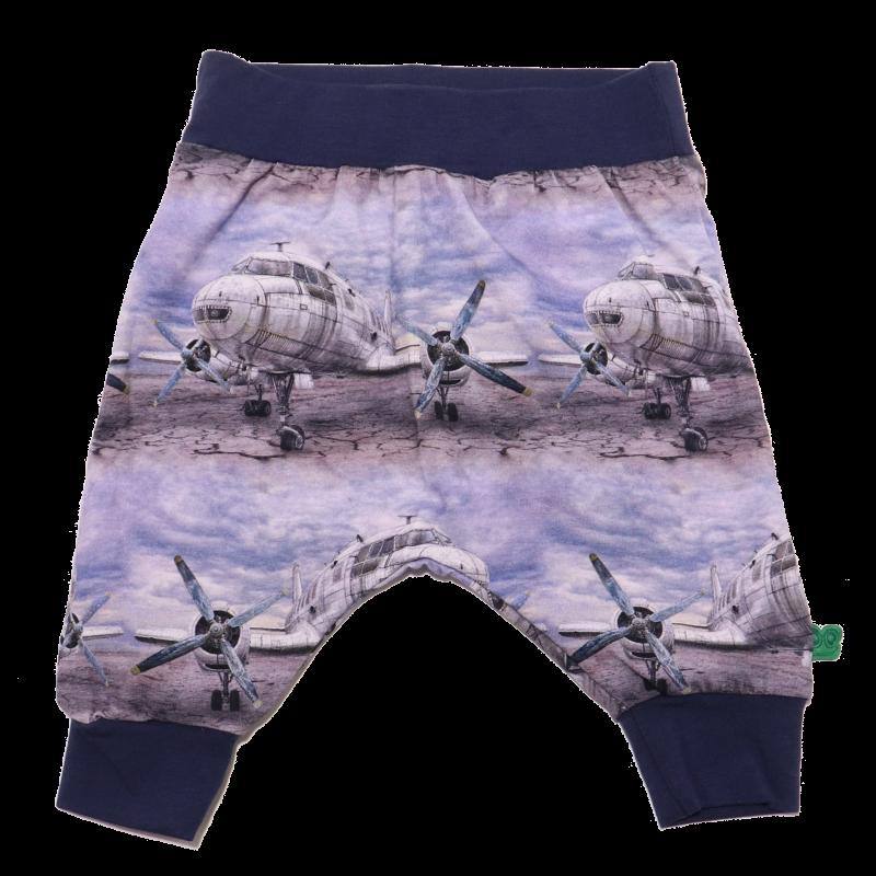 Pantaloni cu imprimeu avioane