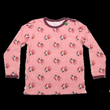 Bluziță roz cu mânecă lungă și imprimeu rândunici Freds World