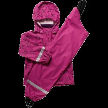 Geacă, pantaloni și sac de ploaie Freds World - roz violet
