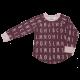 Bluză pijama din bumbac organic cu imprimeu alfabet