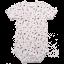 Body cu mânecă scurtă alb cu imprimeu plante