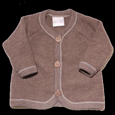Jachetă maro din lână fleece pentru bebeluși Drappa Dot