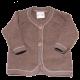 Jachetă maro din lână fleece