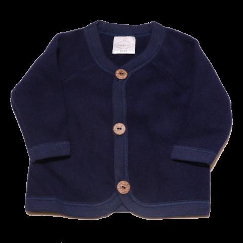 Jachetă bleumarin din lână fleece pentru bebeluși 56/62 și 68/74