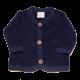 Jachetă bleumarin din lână fleece