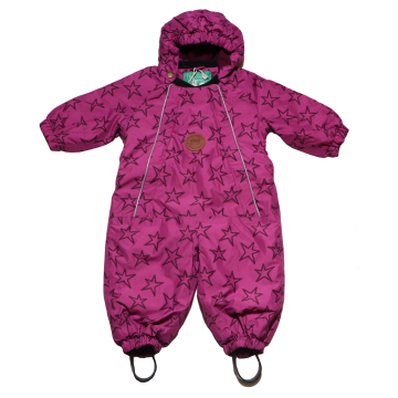 Combinezon bebe roz  violet de iarnă Fred's World