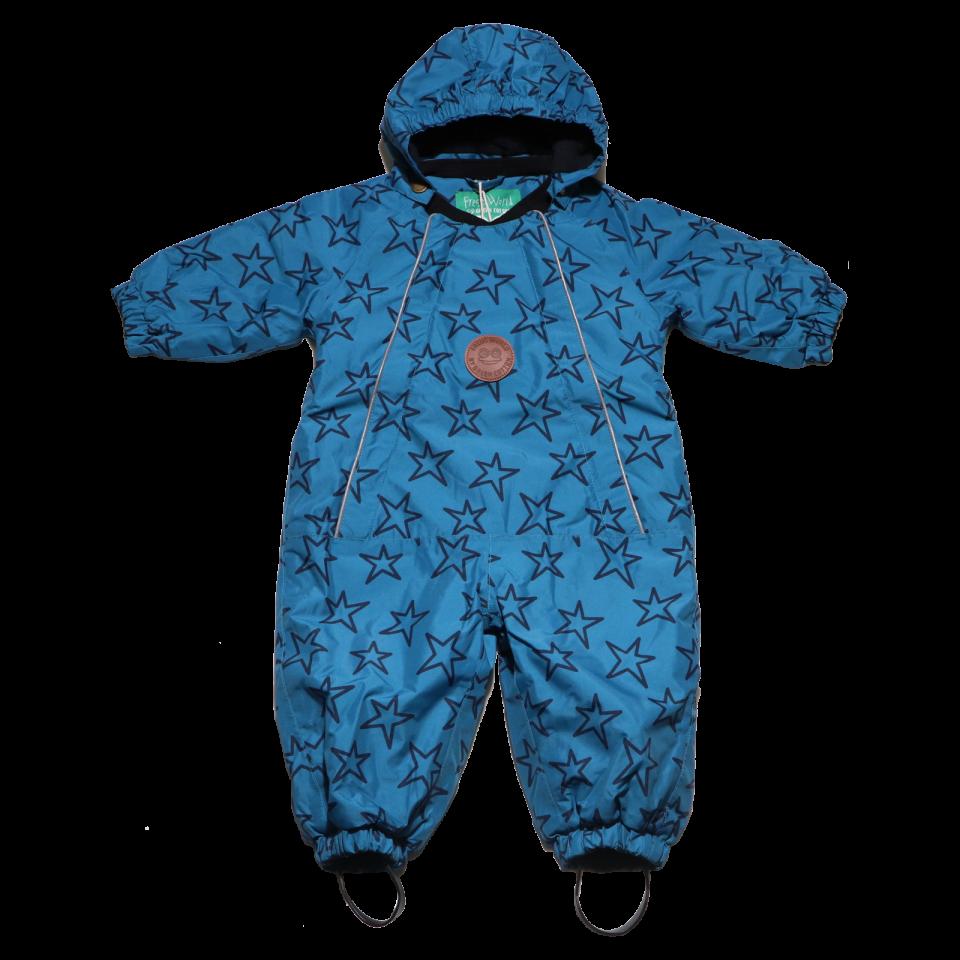 Combinezon albastru de iarnă pentru bebeluși