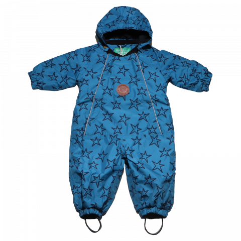 Combinezon bebe albastru, de iarnă Fred's World