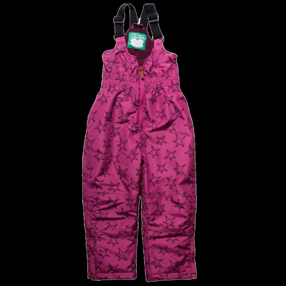 Pantaloni roz violet de zăpadă și ski